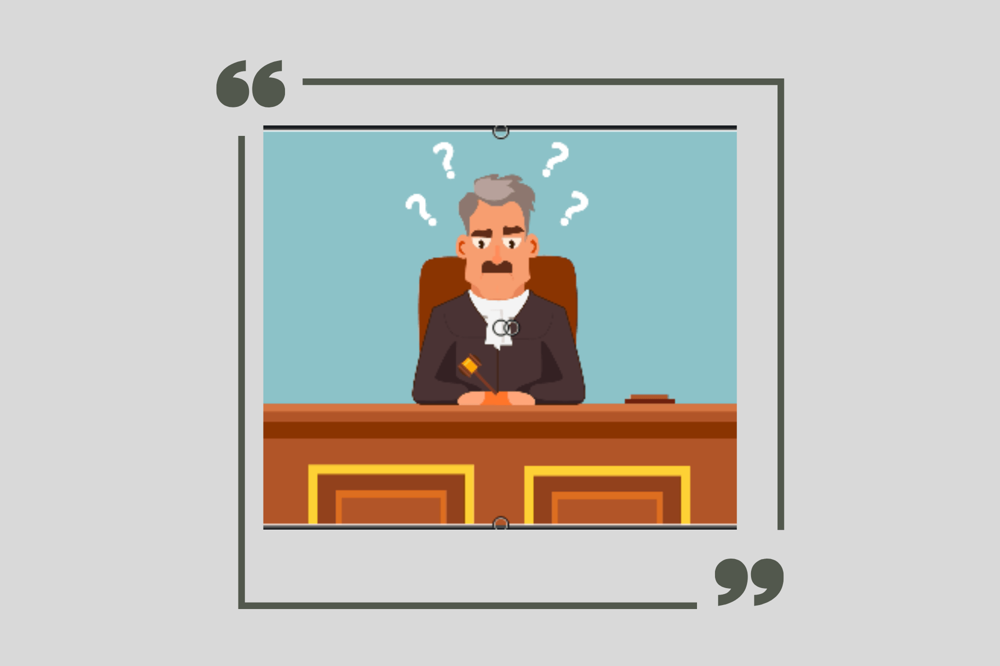 Judge confused about evidence