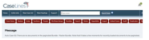 CaseLines do docs in paginate bundle