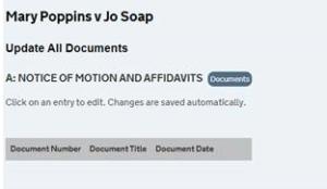 CaseLines no documents